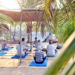 Yoga-Plätze im Freien