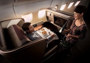 Foto Singapore Airlines Business Class