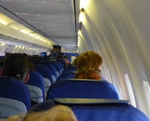 im Flugzeug ©Foto G.Wilms