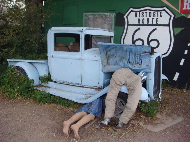 Die Route 66 in Seligman, Arizona.