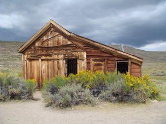 Einsames Haus in der Geisterstadt Bodie